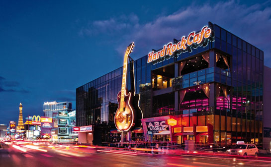 Hard Rock Cafe on the Las Vegas Strip - NACE 2013 Installation Venue